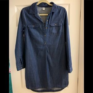 Old Navy chambray cotton tunic, size S, EUC